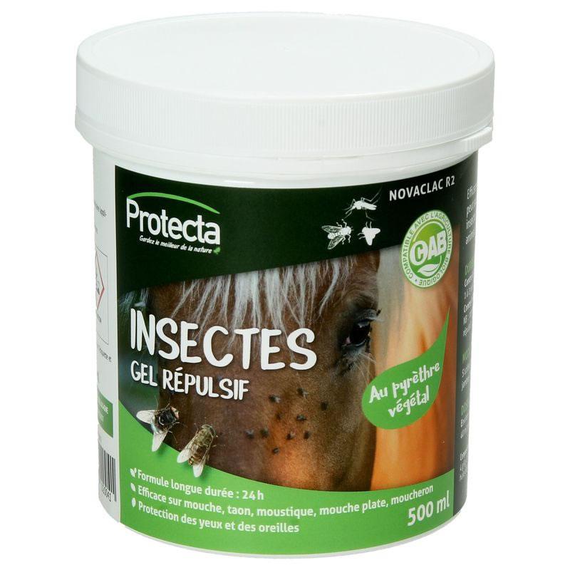 Répulsif gel anti-insectes pour cheval - Pot de 500ml